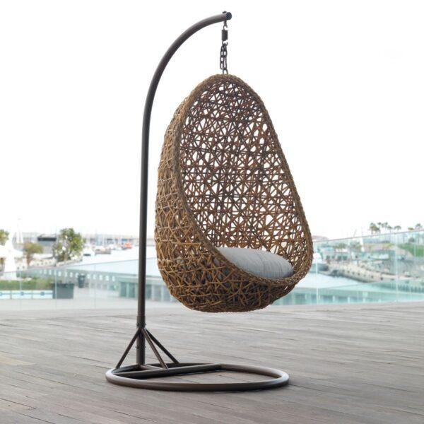 Cómodo sillón colgante para jardín Marocco