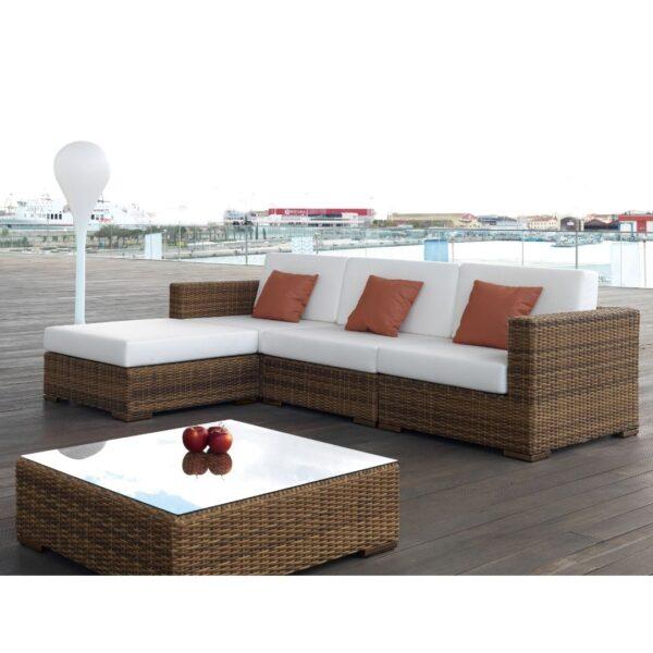 Sofá modular de jardín