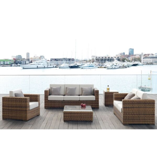 Muebles de jardín Marocco, sillón, sofás y mesas auxiliares