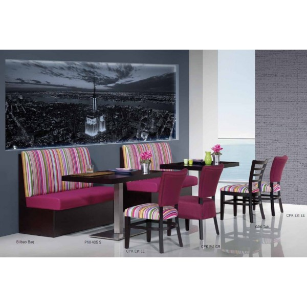 Bancos para hostelería: mobiliario versátil y atractivo