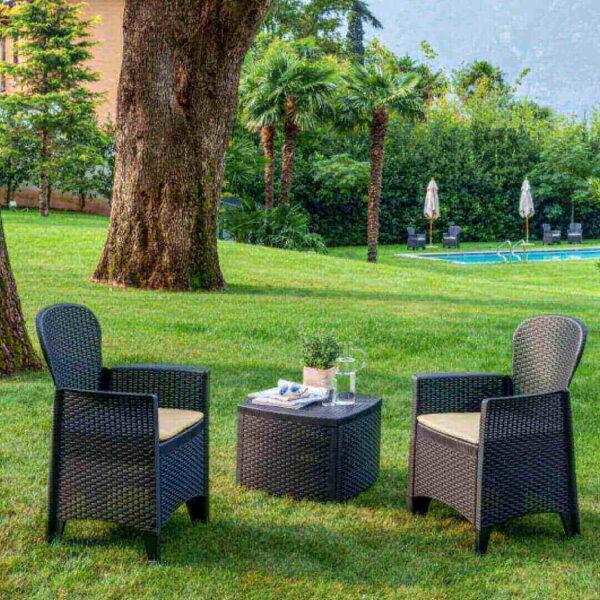 sillón de jardín florencia + mesa florencia